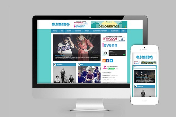 diseño web ojeando festival