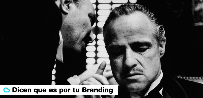 Frase branding iMeelZ con fotograma de El Padrino