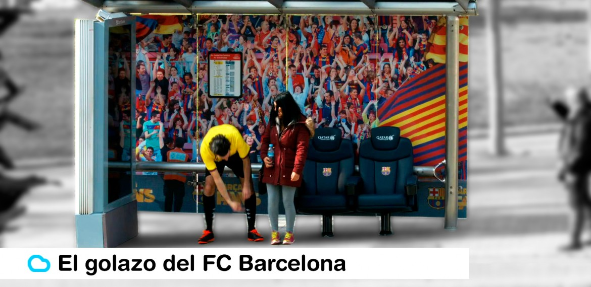 marquesina fc barcelona banquillo sopresa ambient marketing