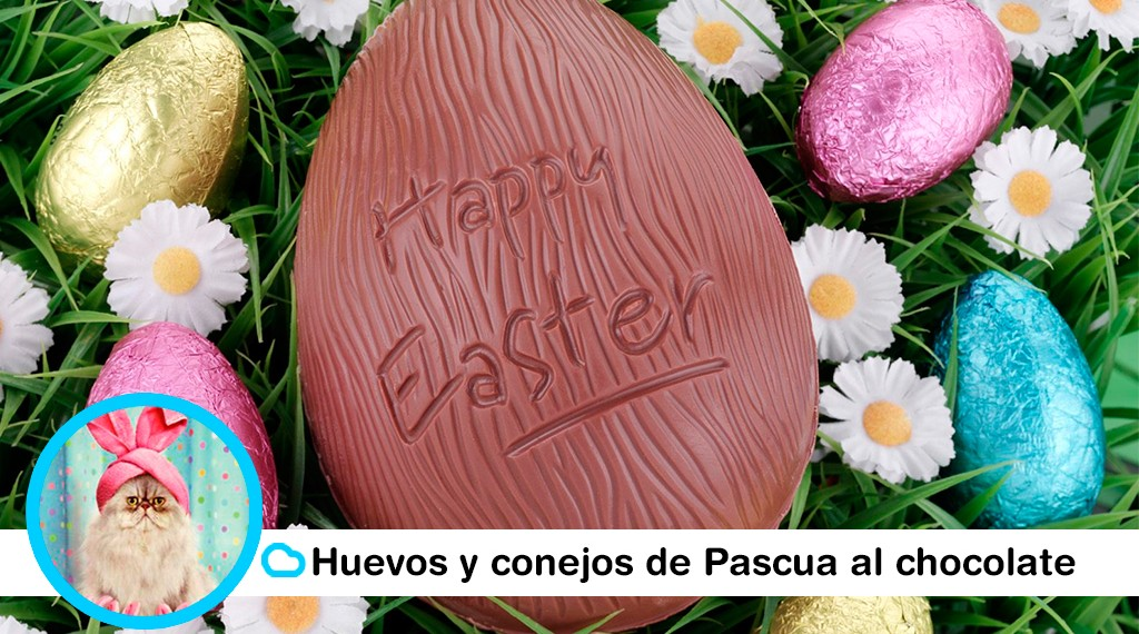 happy easter en huevo de chocolate