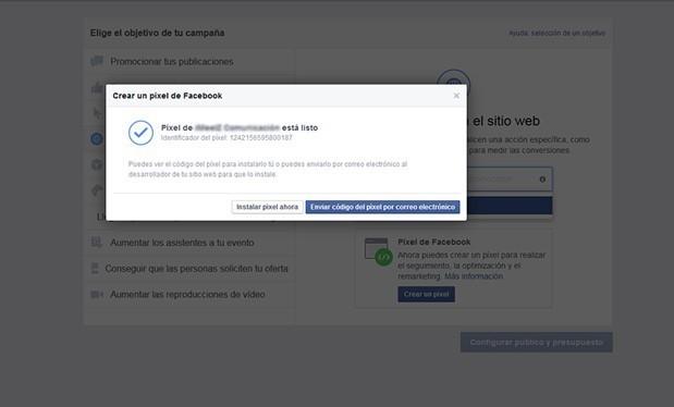 como crear el pixel de facebook
