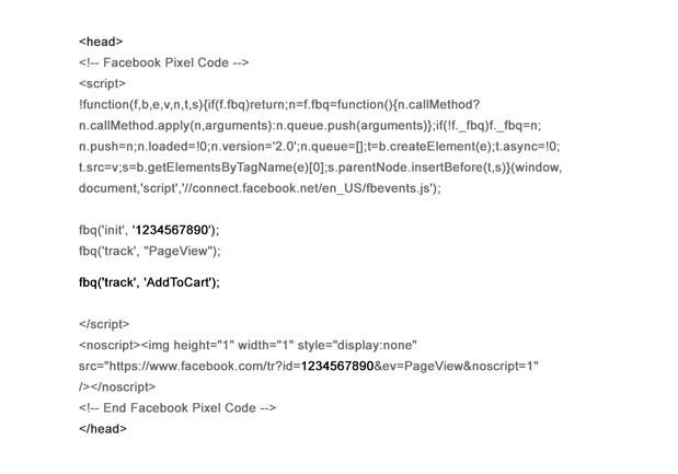 codigo pixel facebook ads