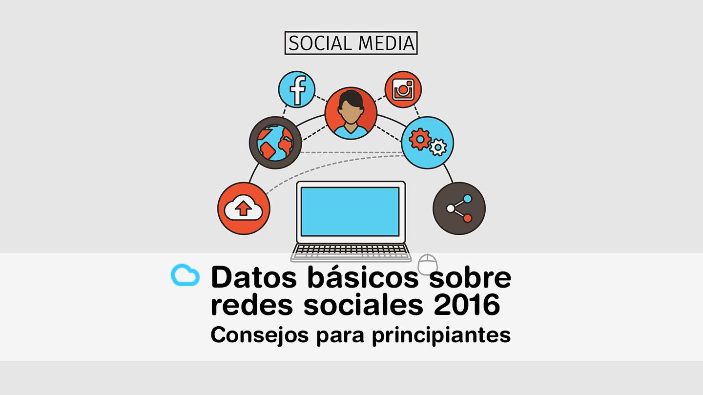Datos básicos sobre redes sociales 2016 y consejos para principiantes