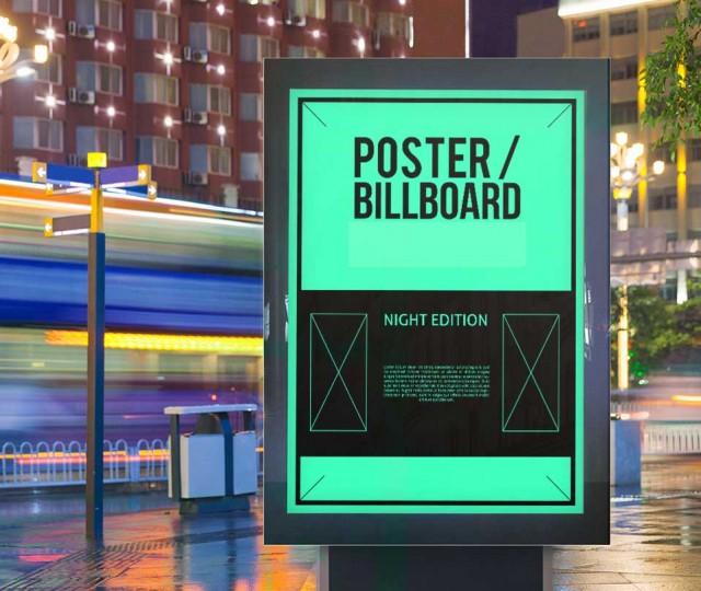campaña de publicidad muestra cartel