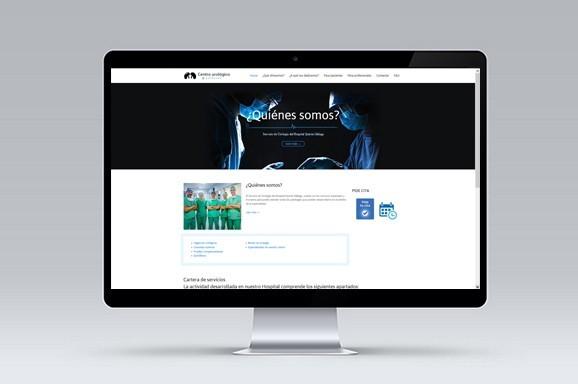 Web Multiidioma Centro Urólogos Málaga diseñada y desarrollada por iMeelZ - Trabajos
