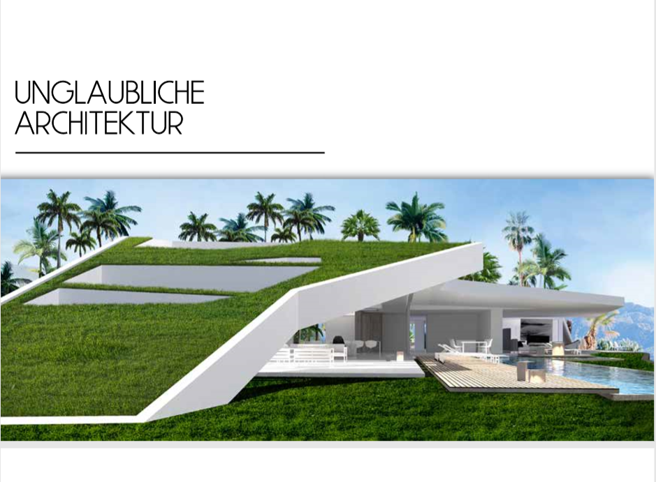 randing y diseño catálogo Inmobiliaria idioma alemán iMeeZ