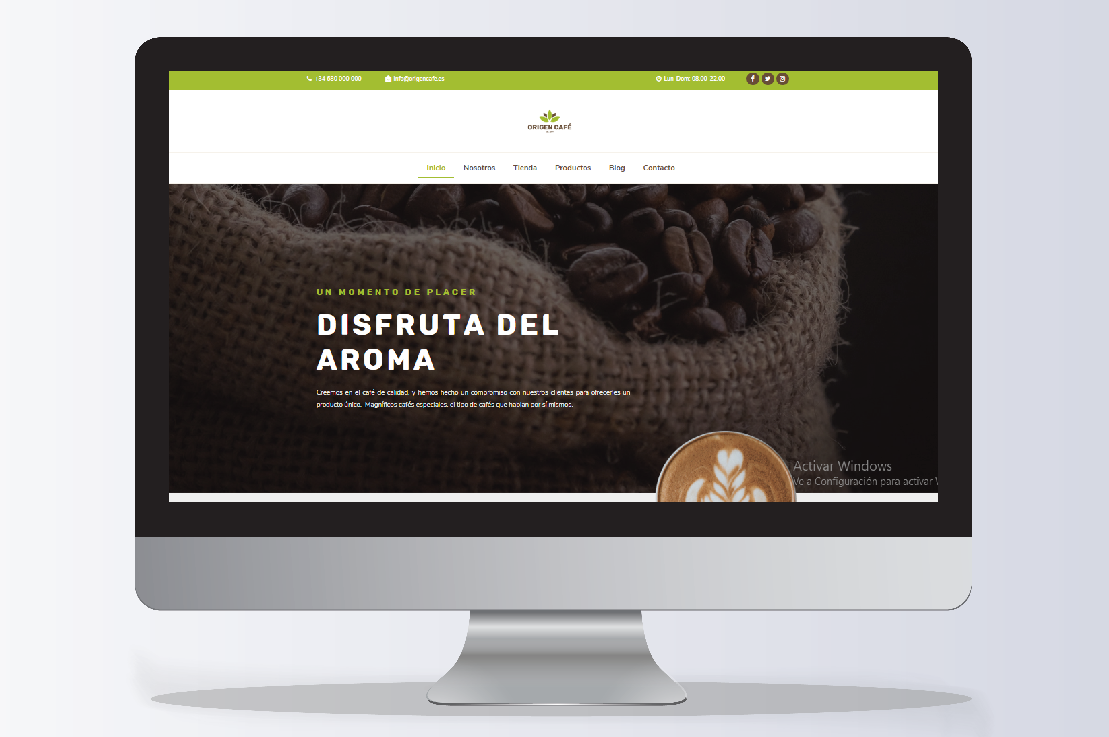 Diseño Web Tenerife Origen Cafe por iMeelZ