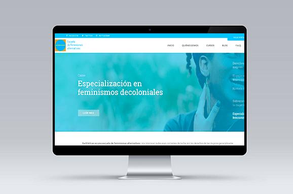 branding diseño y desarrollo web escuela perifericas iMeelZ - Trabajos