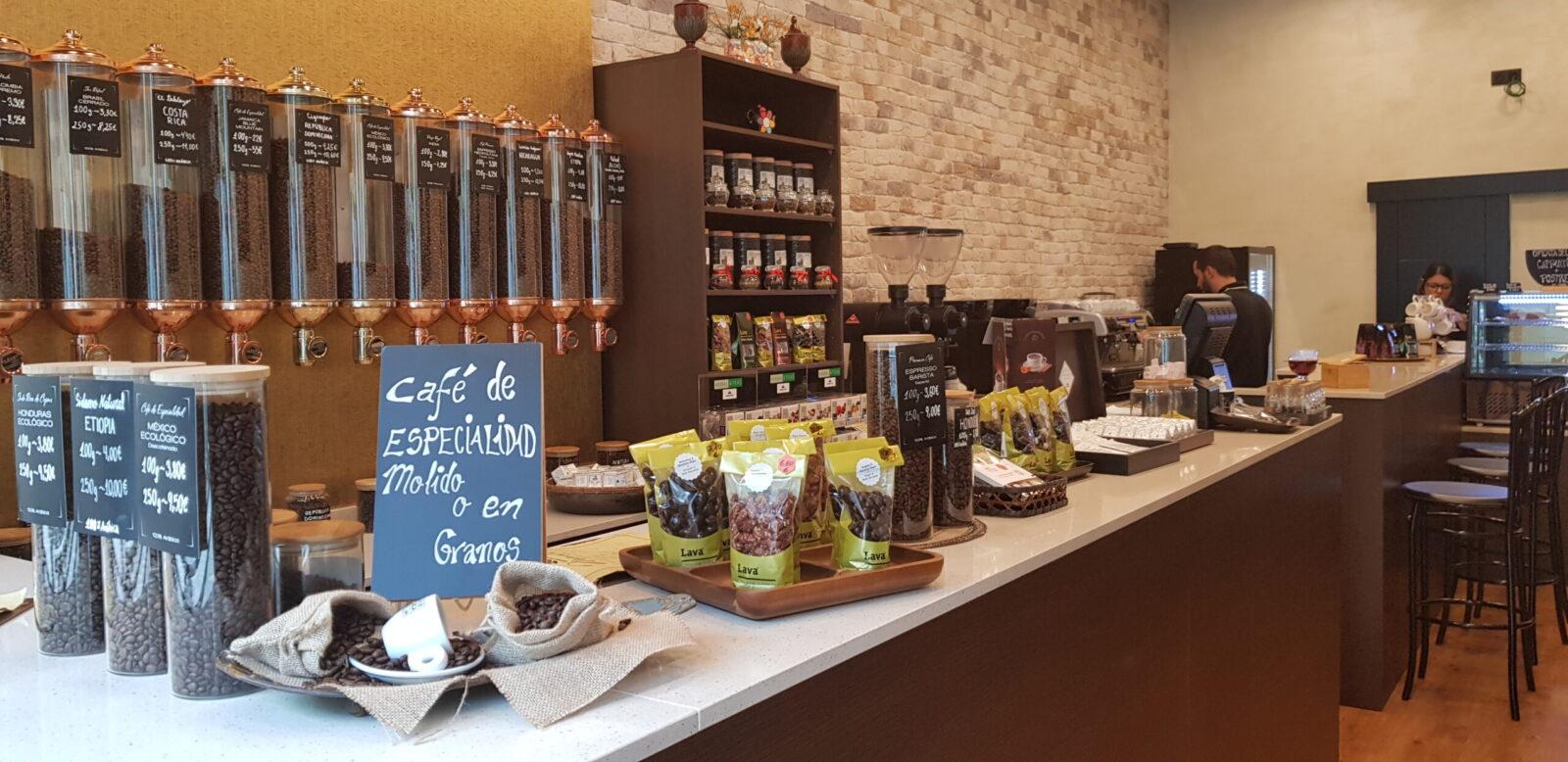 mostrador de cafe