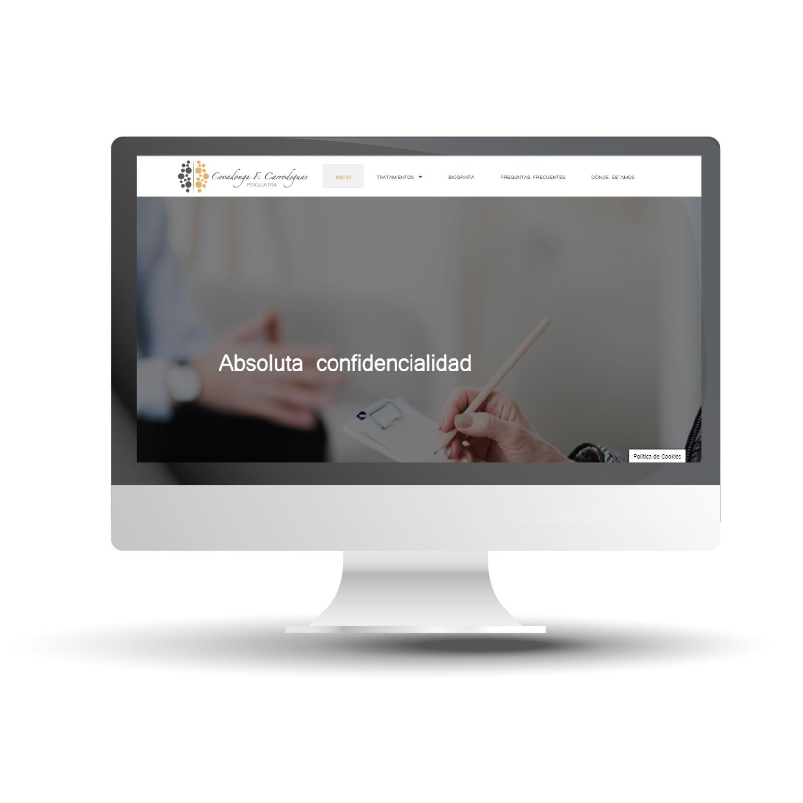 Diseño y Desarrollo Web Psiquiatra COVADONGA F.CARRODEGUAS - Trabajos
