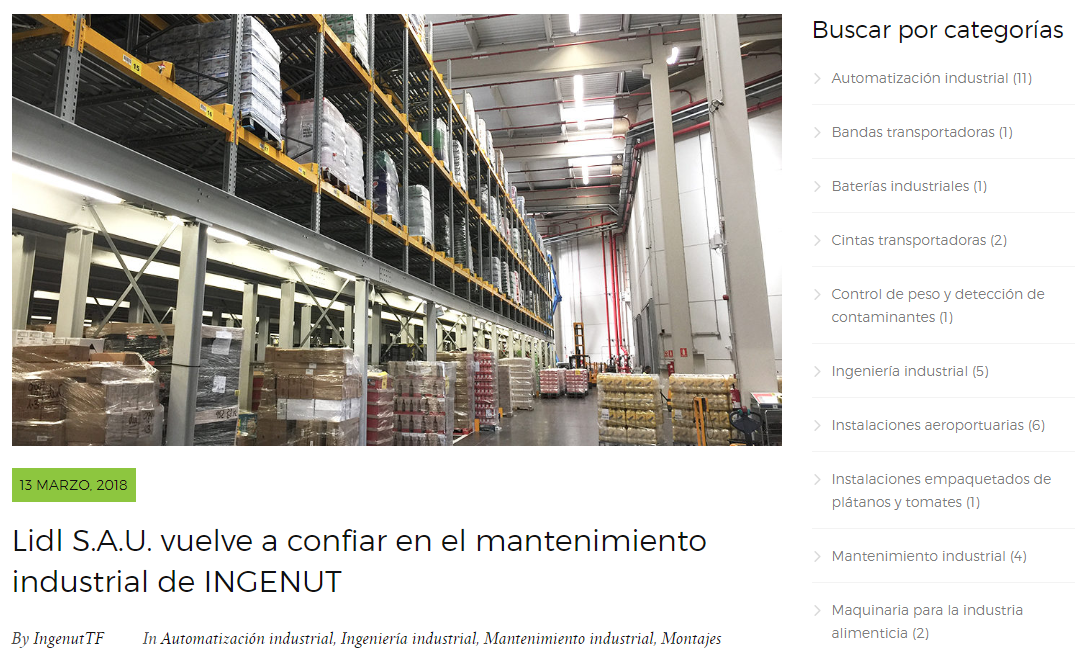 Marketing de Contenidos Blog INGENUT iMeelZ