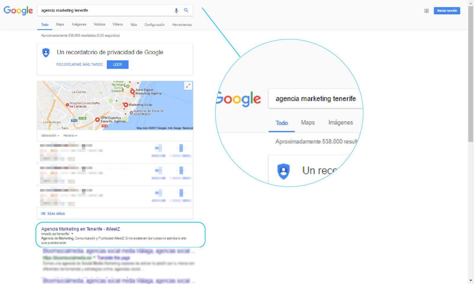 iMeelZ en el TOP1 de Google