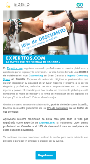 email Marketing Experttos Plataforma online profesional iMeelZ - Trabajos