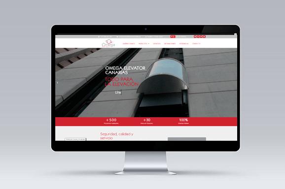 diseño web tenerife omega elevator canarias